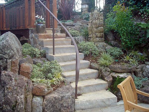 Solid Limestone Steps