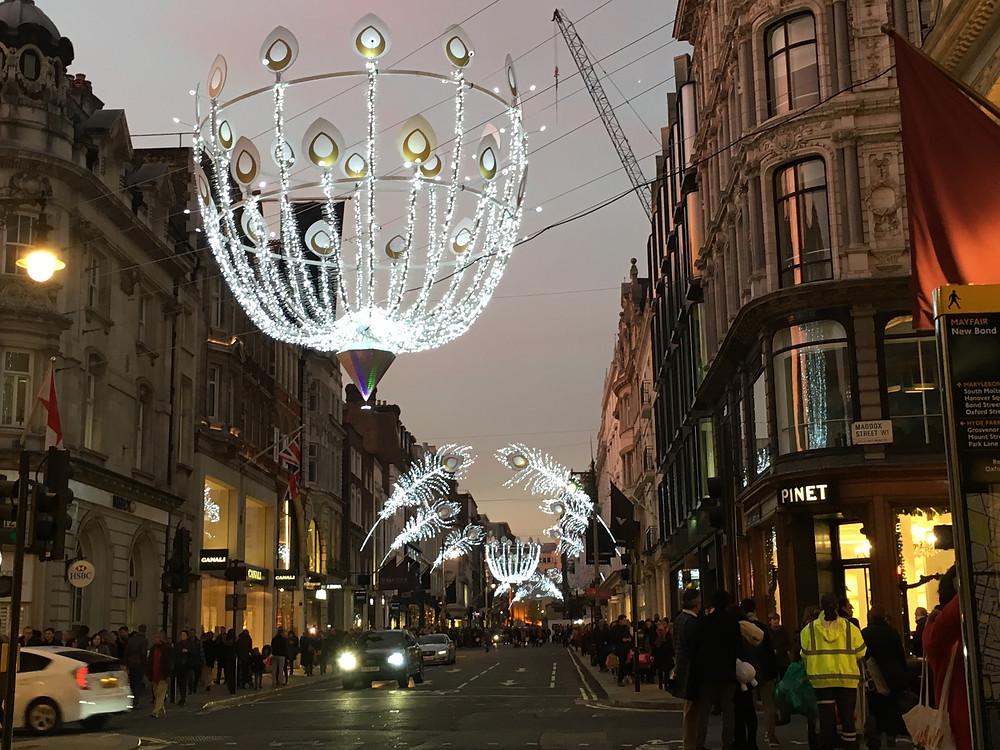 Christmas lights London