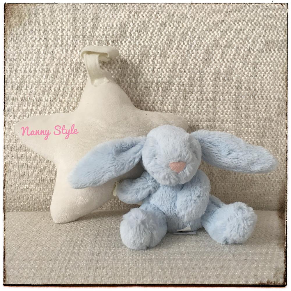 bunny star soft toy  peluche de estrella y conejo