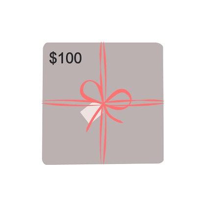 $100 Dollar Gift Card
