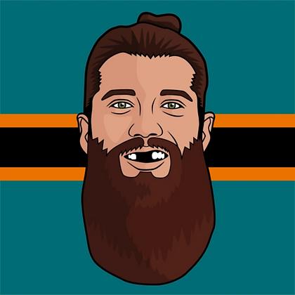 Major League Socks - Brent Burns
