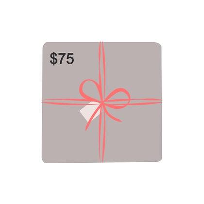 $75 Dollar Gift Card