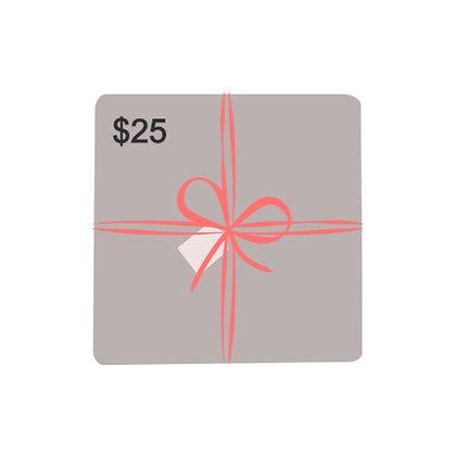$25 Dollar Gift Card