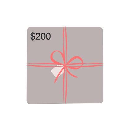 $200 Dollar Gift Card