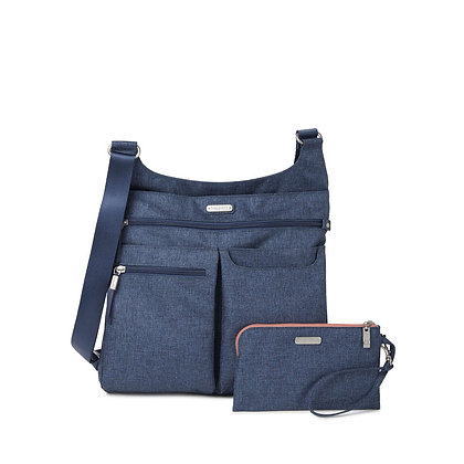 Baggallini - On Track Zip Crossbody - Steel Blue
