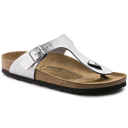 Birkenstock - Gizeh Man Made Leather  Silver