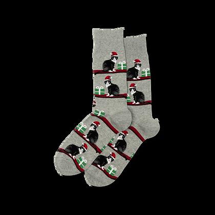 Hot Sox - Christmas Cats Crew Socks Men's