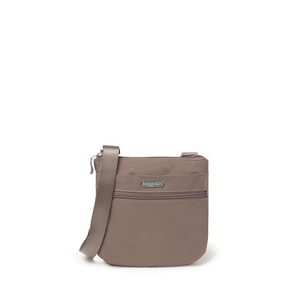 Baggallini - Small Zip Crossbody - Taupe