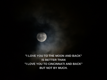 To the Moon and Back, Not as Far as You Think