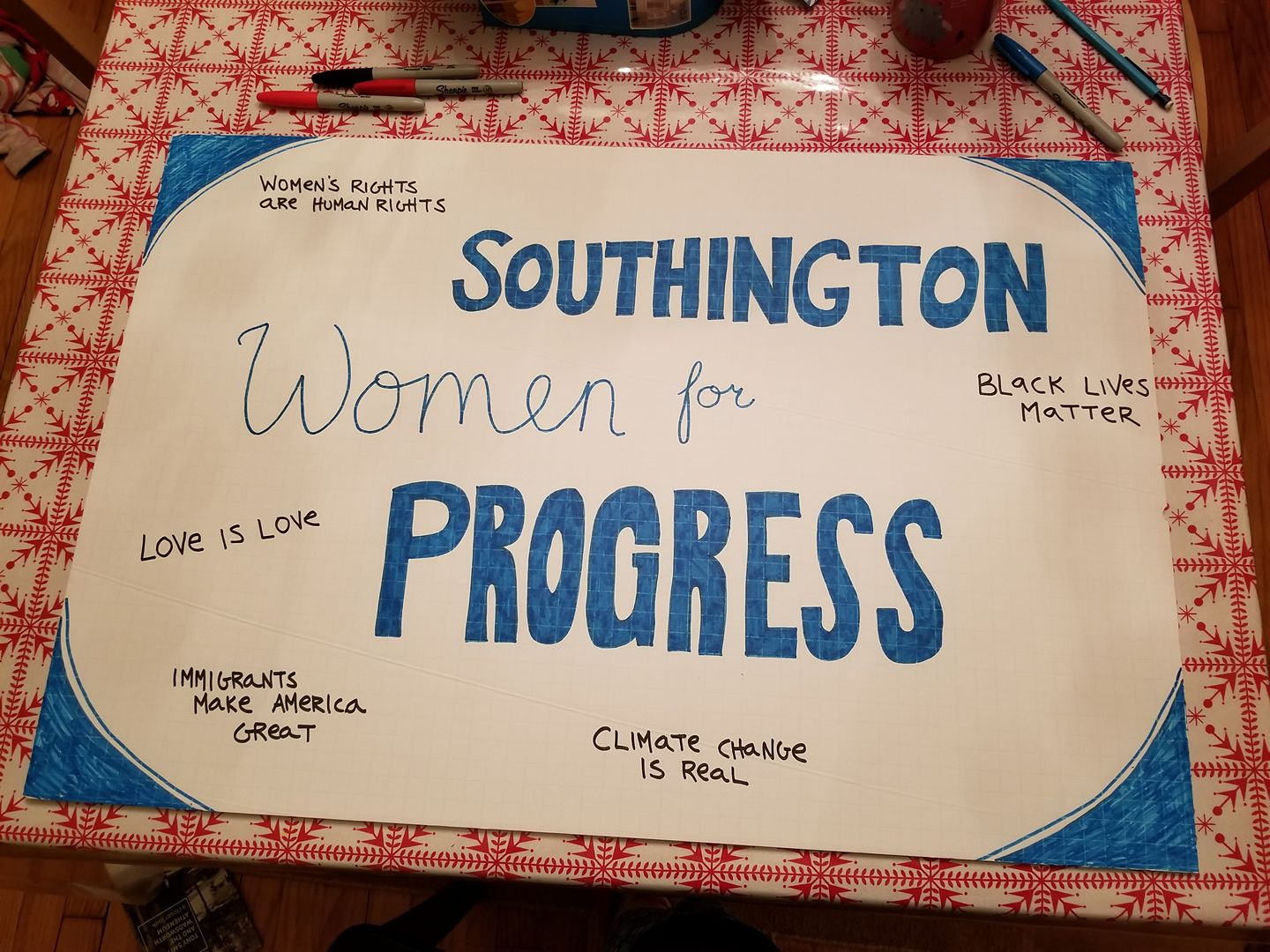 Southington Women for Progress sign
