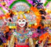 Parade of colorful smiling mask at Massk