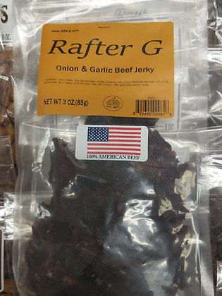 Rafter G Onion and Garlic Beef Jerky