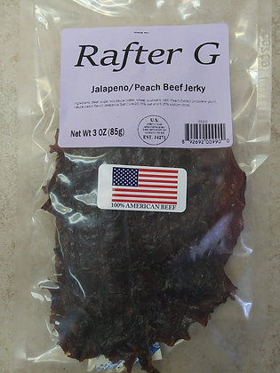 Rafter G Jalapeno/Peach Beef Jerky