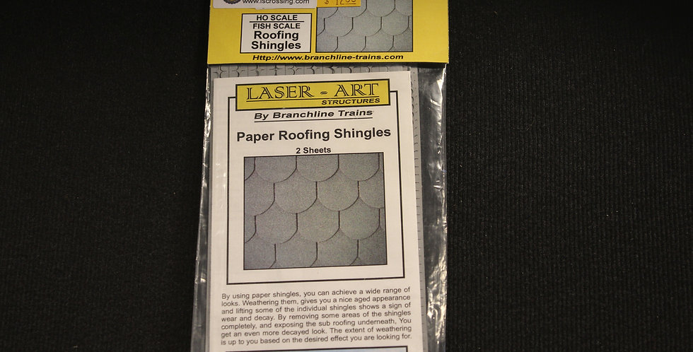 Fish Scale Roofing Shingles HO Scale - 907