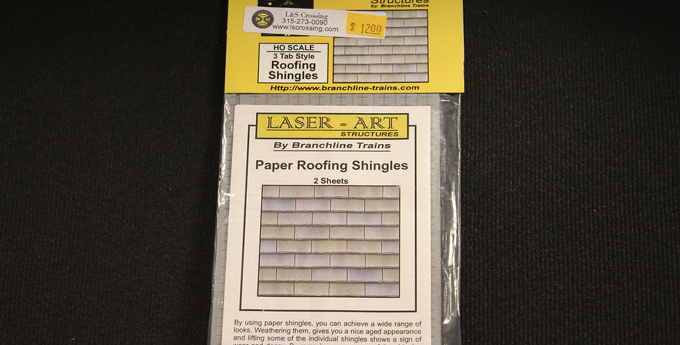 3 Tab Style Roofing Shingles HO Scale- 901