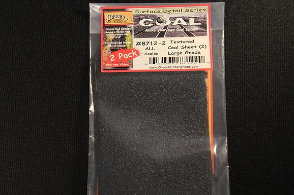 Coal Flexible Textured Coal Sheet 2-Pack Large Grade - 8712-2