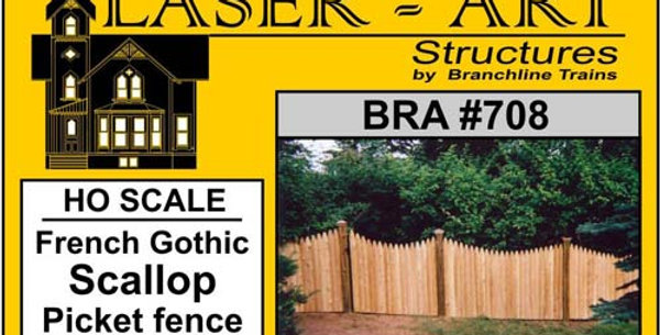 French Gothic Scallop Picket Fence - 708