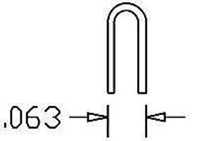 """U Bolt 0.063 Wide .012"""" Wire (20/pkg) - 190-512"""