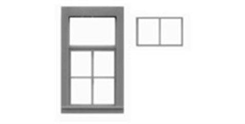 """6 Pane Window 2 Pane Top Tilt Out Sash 34""""x64""""-8090"""