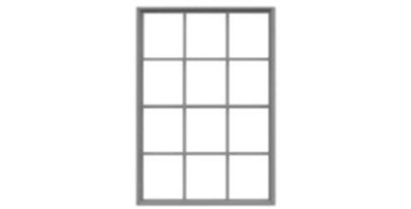 "12 Pane Masonry Window 72""x102""-8051"