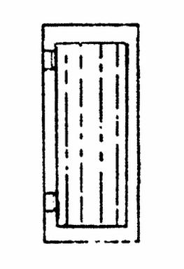 Workshop Man Door (Small) (3/pkg) - 2109