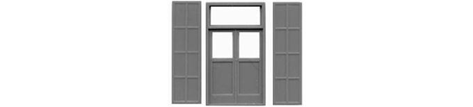 """Double Door & Shutters 60""""x115""""-8140"""