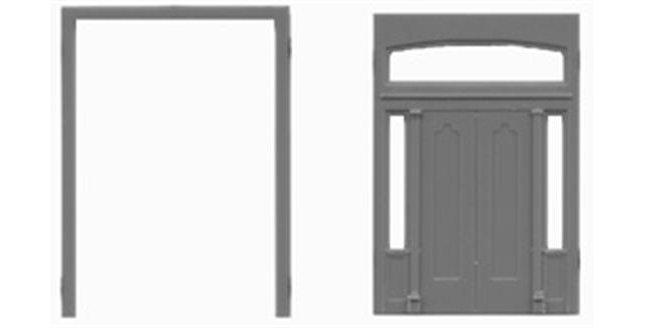 "Double Door Sidelights & Transom 89""x130""-8121"