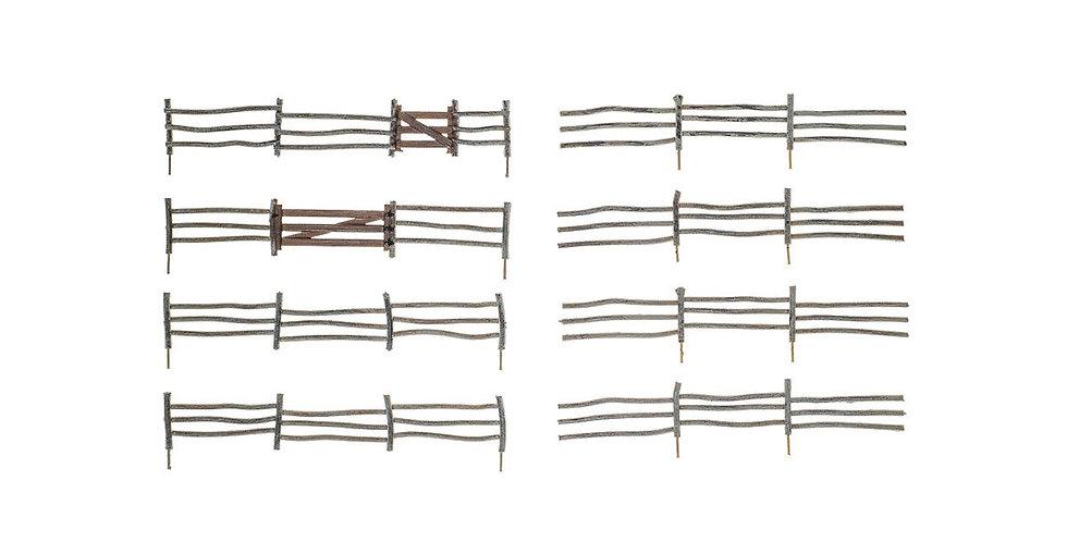 HO Log Fence - A2981