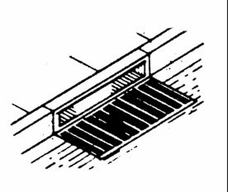 Curb Side Storm Sewer Grate (3/pkg) - 2334
