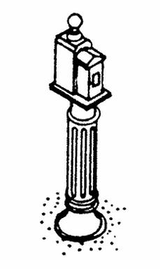Fire Call Box on Post (3/pkg) - 2336
