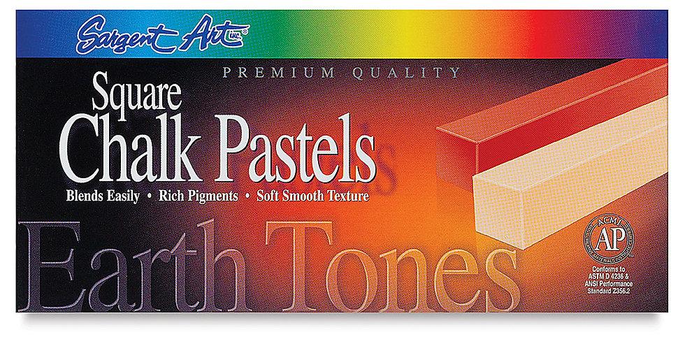 Earth Tone Square Chalk Pastels - 22-4113