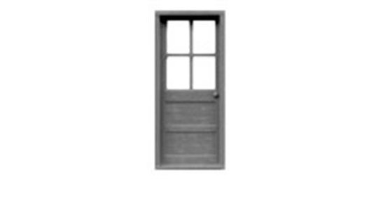 "4 Lite Wood Door 36""x80""-8009"