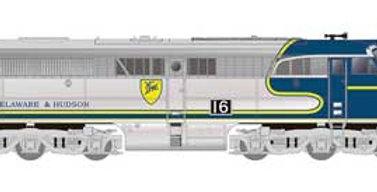 Alco PA1 - Standard DC -- Delaware & Hudson 16 (silver, blue, yellow)