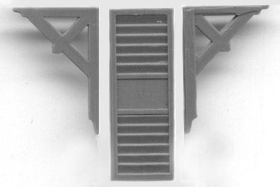 Eave Bracket and Louvered Vent (4/pkg) - 5172