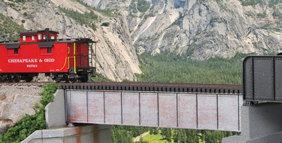 50' Single-Track Railroad Deck Girder Bridge-4506