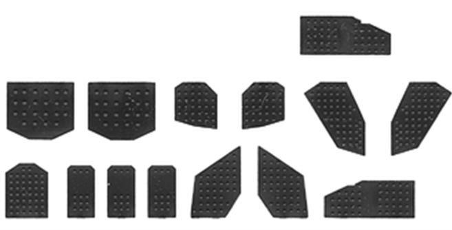 Rivet Plates Assorted (28)-2053