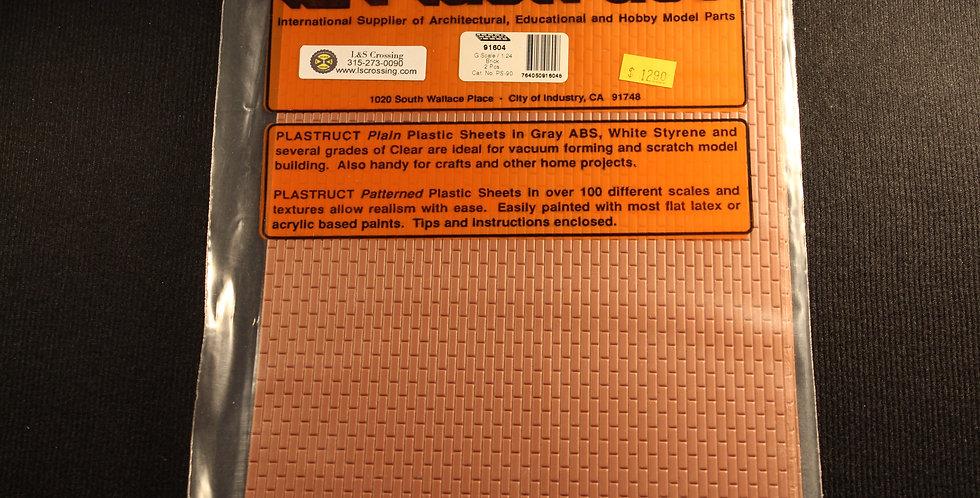 """Patterned Sheets - Wood Shake Shingles .020"""" Thick .375"""" Spacing - 91659"""