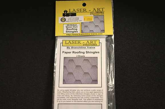 Mosaic Style Roofing Shingles HO Scale - 905