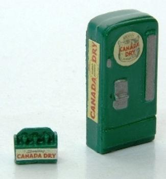 Custom Upright Soda Machine/Case Canada Dry-748