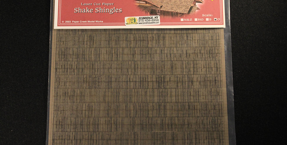 Shake Shingles O Scale - 204