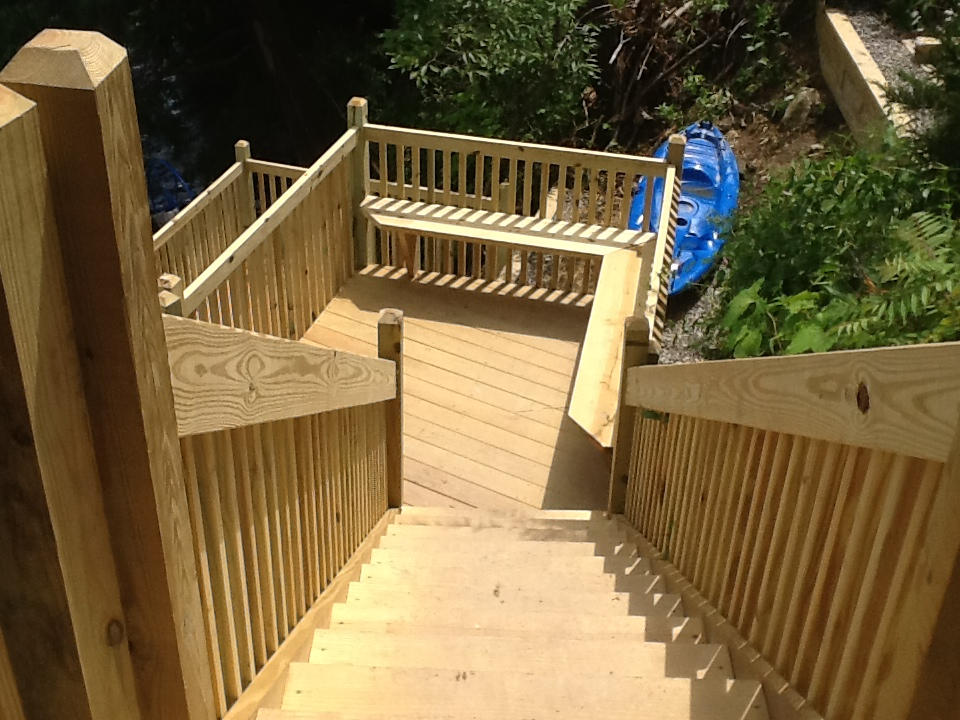 Custom Timber Stairs | Site Work | LakeCountry Construction