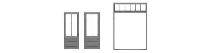 """Double Door & Frame 78""""x120""""-8190"""