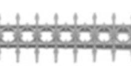 "Iron Railing Widows Walk 1.8"" (4)-8148"
