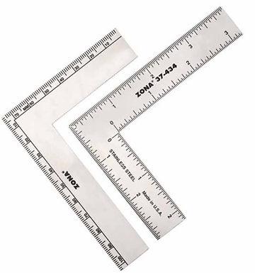 """L-Square Ruler 3""""x4"""" - 434"""