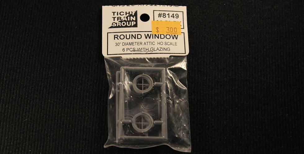 """Round Window 30"""" Diameter Attic-8149"""