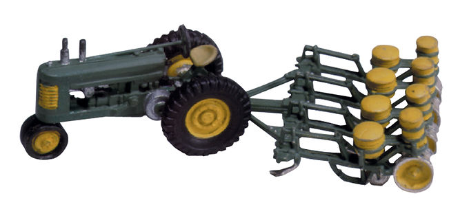 Seeder and Tractor-D208
