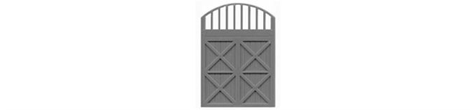 """Freight Door with Arched Transom 80""""x80"""" -8022"""