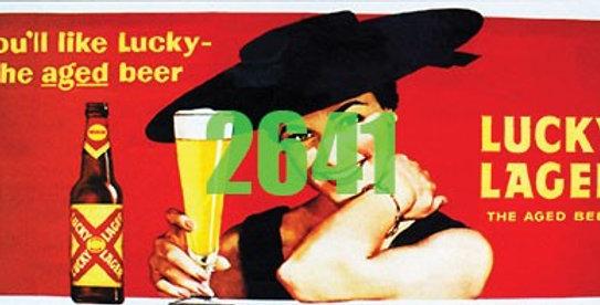 Billboard Lucky Lager Beer 1950's - 2641