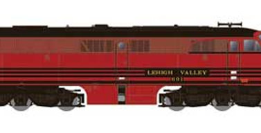 Alco PA1 - Standard DC -- Lehigh Valley (Cornell Red, black)