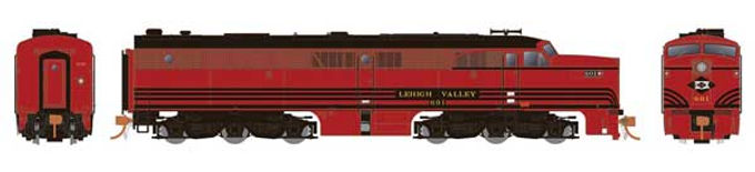 Alco PA1 - Standard DC -- Lehigh Valley (Cornell Red, black)